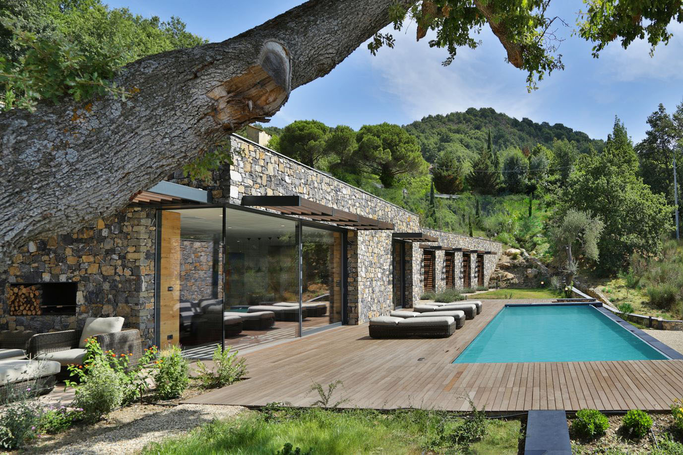 prefab kitchen island sideboard cabinet modern italian stone villa on a hill overlooking the ...
