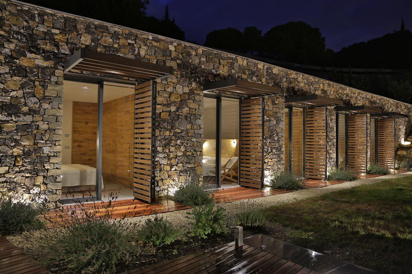 Modern Italian Stone Villa On A Hill Overlooking The