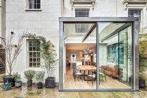 Modern Steel And Glass Rear Extension Of Victorian Semi