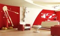 Red Living Room Design Ideas
