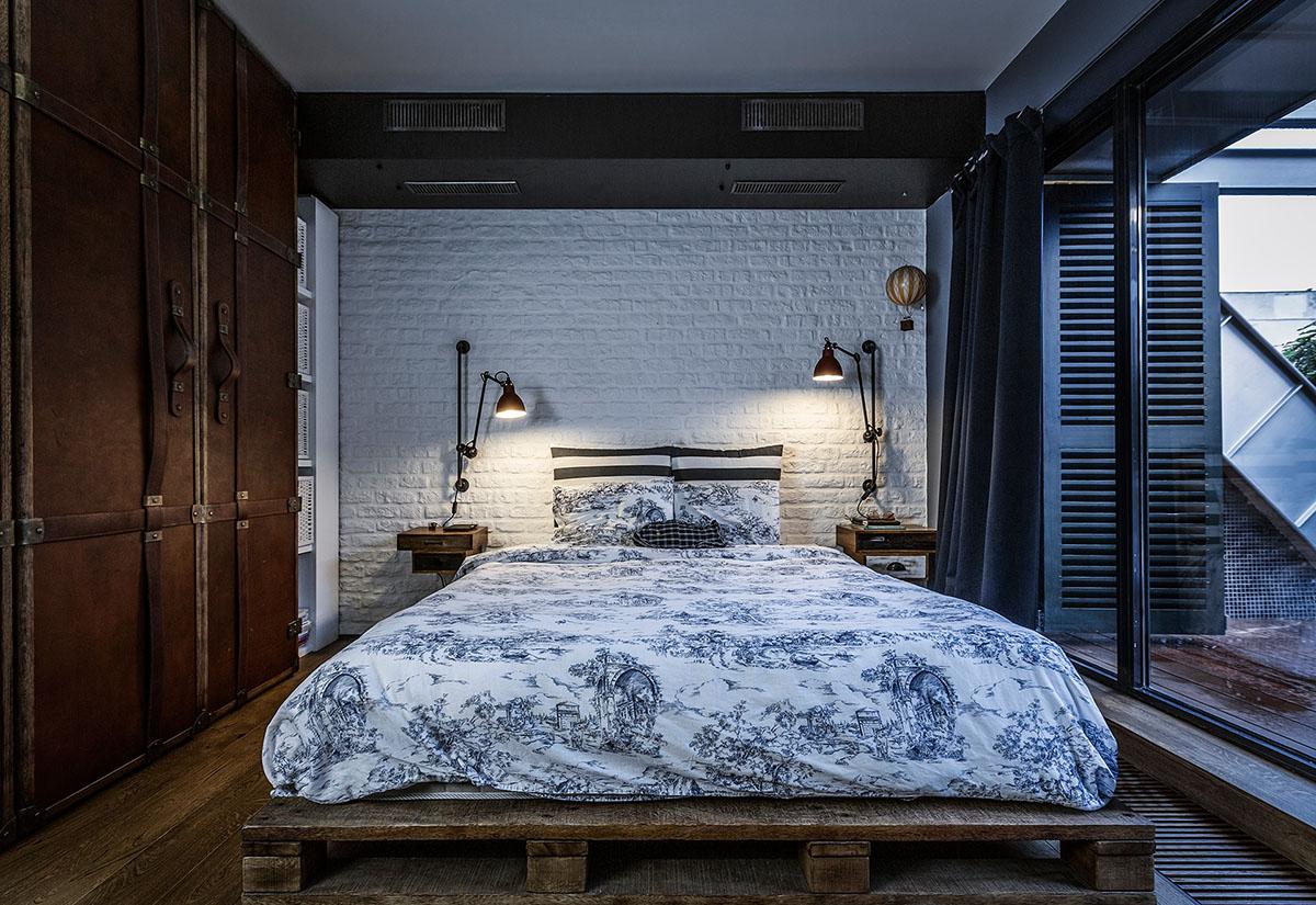 Chambre Style Loft New Yorkais