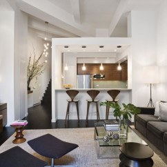 New York Loft Style Living Room Design With Brown Sofa Apartment In Idesignarch Interior