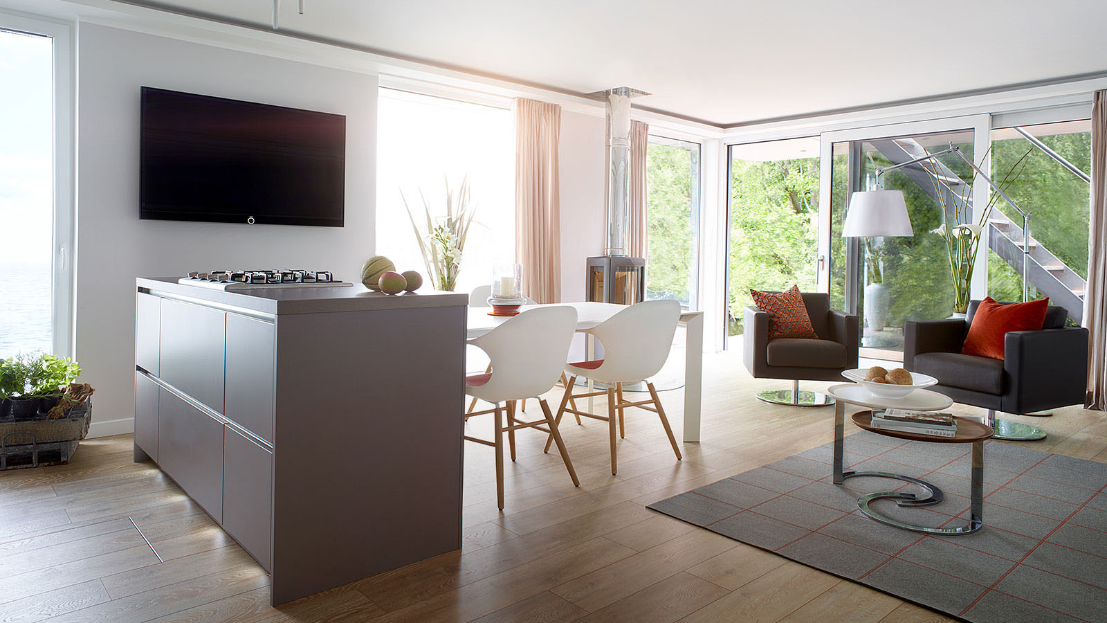 farmhouse tables and chairs recliner sofa elegant floating penthouse with roof terrace | idesignarch interior design, architecture ...