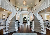 Dramatic Classical Contemporary Grand Curved Staircases ...
