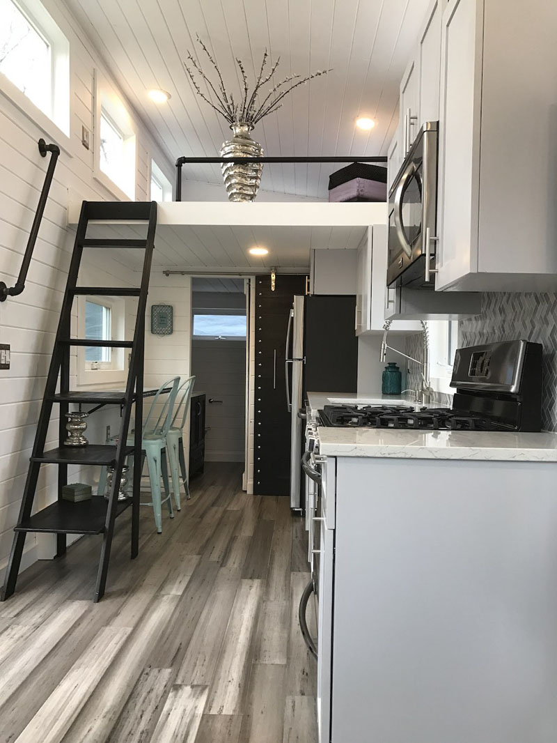 kitchen backsplash photos custom built cabinets this tiny luxury mobile home lets you live simply in ...