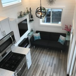 Kitchen Back Splash Standard Size Cabinets This Tiny Luxury Mobile Home Lets You Live Simply In ...
