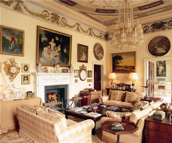 beautiful formal living rooms room designs with leather couches georgian style estate in county kildare | idesignarch ...