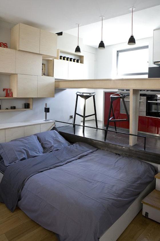 Efficient Studio Apartment Living In Paris  iDesignArch