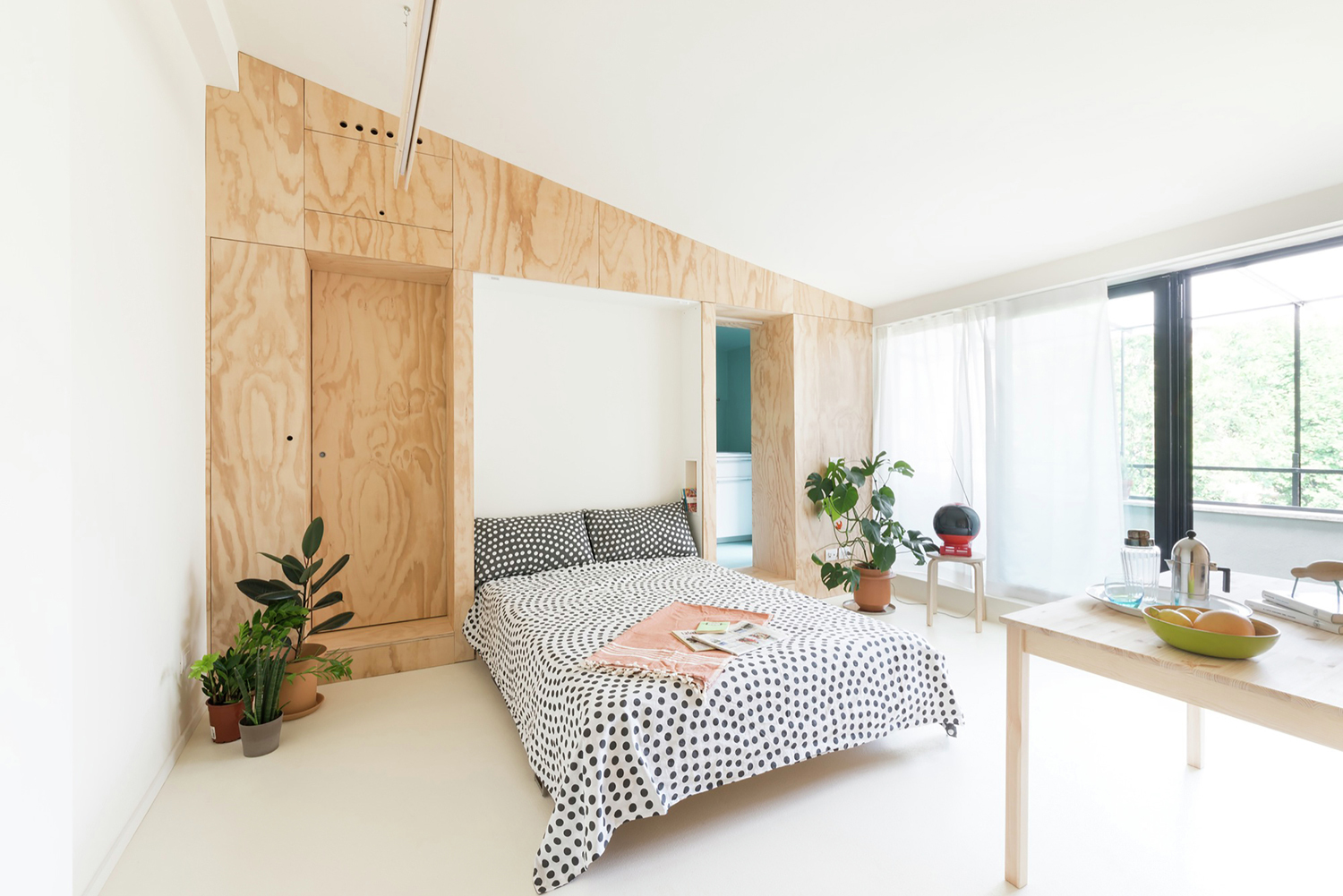 cheap folding tables and chairs small table 300 square foot tiny studio apartment with flexible living space | idesignarch interior design ...