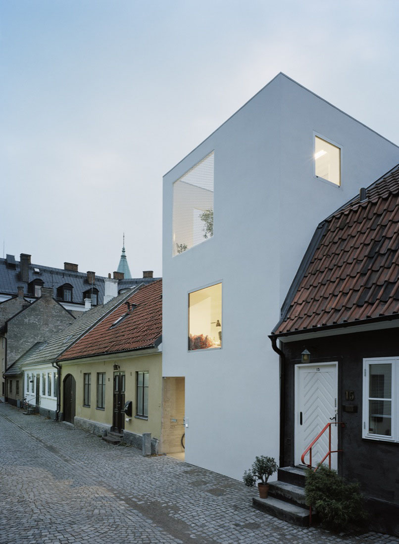 Minimalist Townhouse Between Old Buildings  iDesignArch  Interior Design Architecture