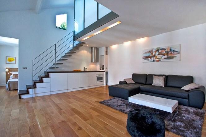 Modern Duplex Apartment Design In Paris
