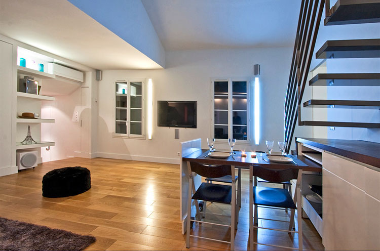 Modern Duplex Apartment Design In Paris  iDesignArch