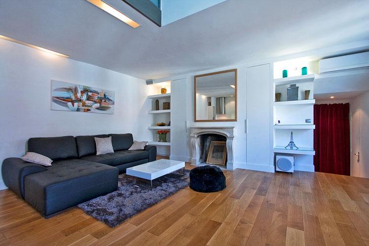 small kitchen storage sink hose repair modern duplex apartment design in paris | idesignarch ...