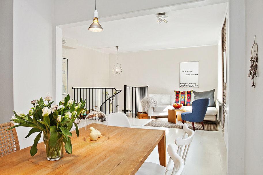 prefab outdoor kitchens kids play kitchen sets charming modern duplex apartment in sweden | idesignarch ...