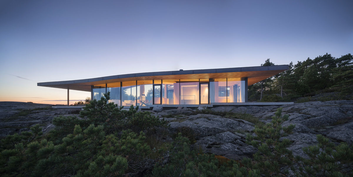 Modern Sea Front Summer Glass House In Finland  iDesignArch  Interior Design Architecture