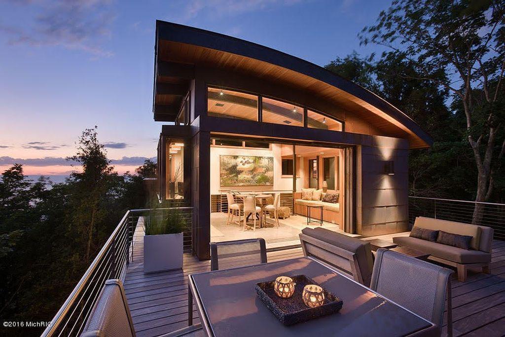 Spectacular Modern Architectural Masterpiece on Lake Michigan  iDesignArch  Interior Design