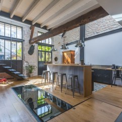 Mid Level Kitchen Cabinets Facets Former Stable Near Paris Converted Into A Modern ...
