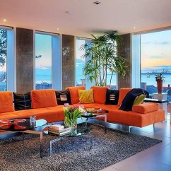 Open Floor Plan Kitchen Living Room Design Rooms Stunning Modern Ocean View Home With ...