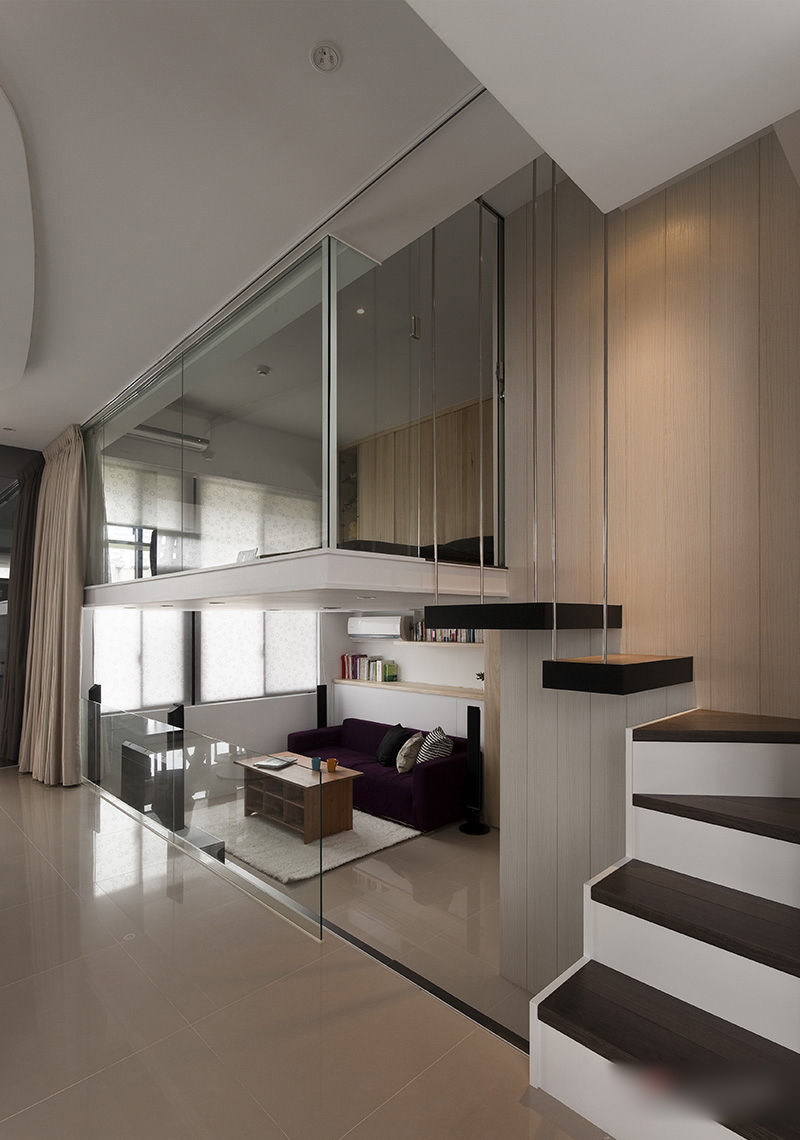 Modern Small Apartment With Open Plan And Loft Bedroom  iDesignArch  Interior Design