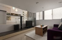 Modern Small Apartment With Open Plan And Loft Bedroom ...