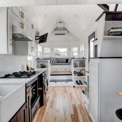 Mobile Kitchen Trailer Elegant Curtains Beautifully Designed Tiny House With Luxury And ...