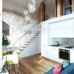 Small Studio Apartment In Moscow With Loft Bedroom Idesignarch Interior Design Architecture Interior Decorating Emagazine