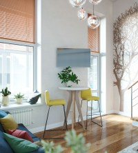 Small Studio Apartment In Moscow With Loft Bedroom ...