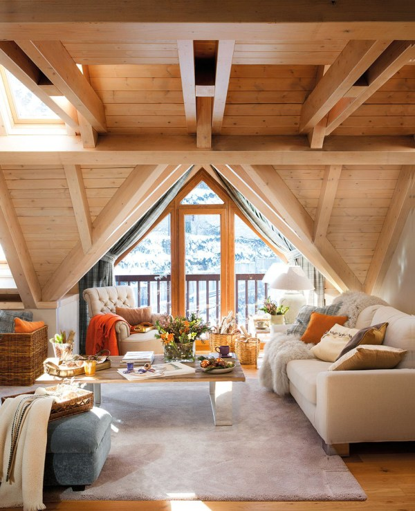 Cozy Rustic Mountain Retreat With Contemporary Twist