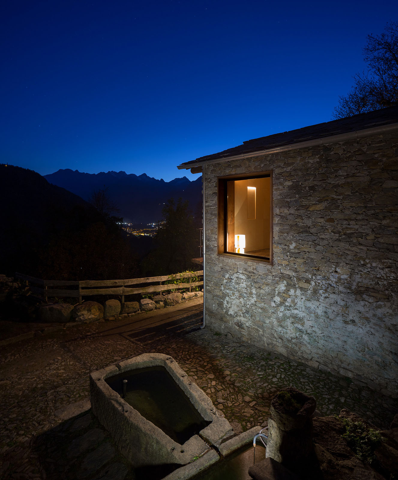 concrete kitchen floor tall pantry cabinet furniture restoration of a 16th century mountain village stone house ...