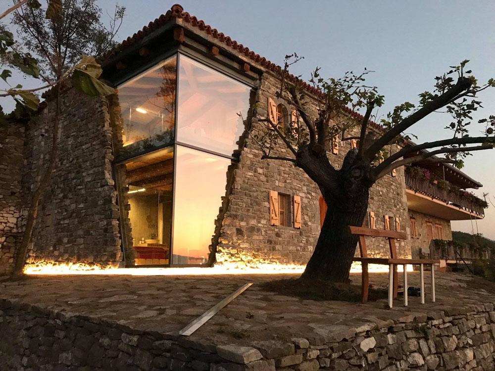 Mrizi I Zanave Agroturiz 235 M Modern Stone Glass House 8