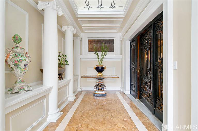 kitchen cabinets crown molding pacific fan neo-classical home in heights | idesignarch ...