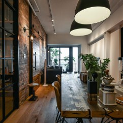Kitchen Furniture For Small Oakley Sink Backpack Stealth Black Charming Industrial Loft In New Taipei City | Idesignarch ...