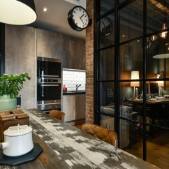 Chairs For Kitchen Table Owl Rugs Charming Industrial Loft In New Taipei City | Idesignarch ...
