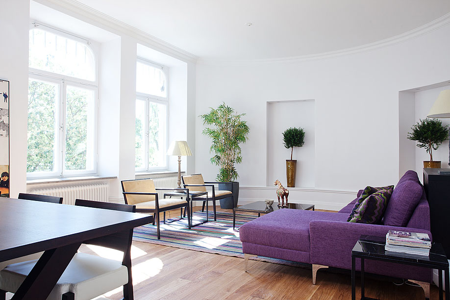 beautiful small apartment living rooms room sectional sofa stylish studio in stockholm | idesignarch ...