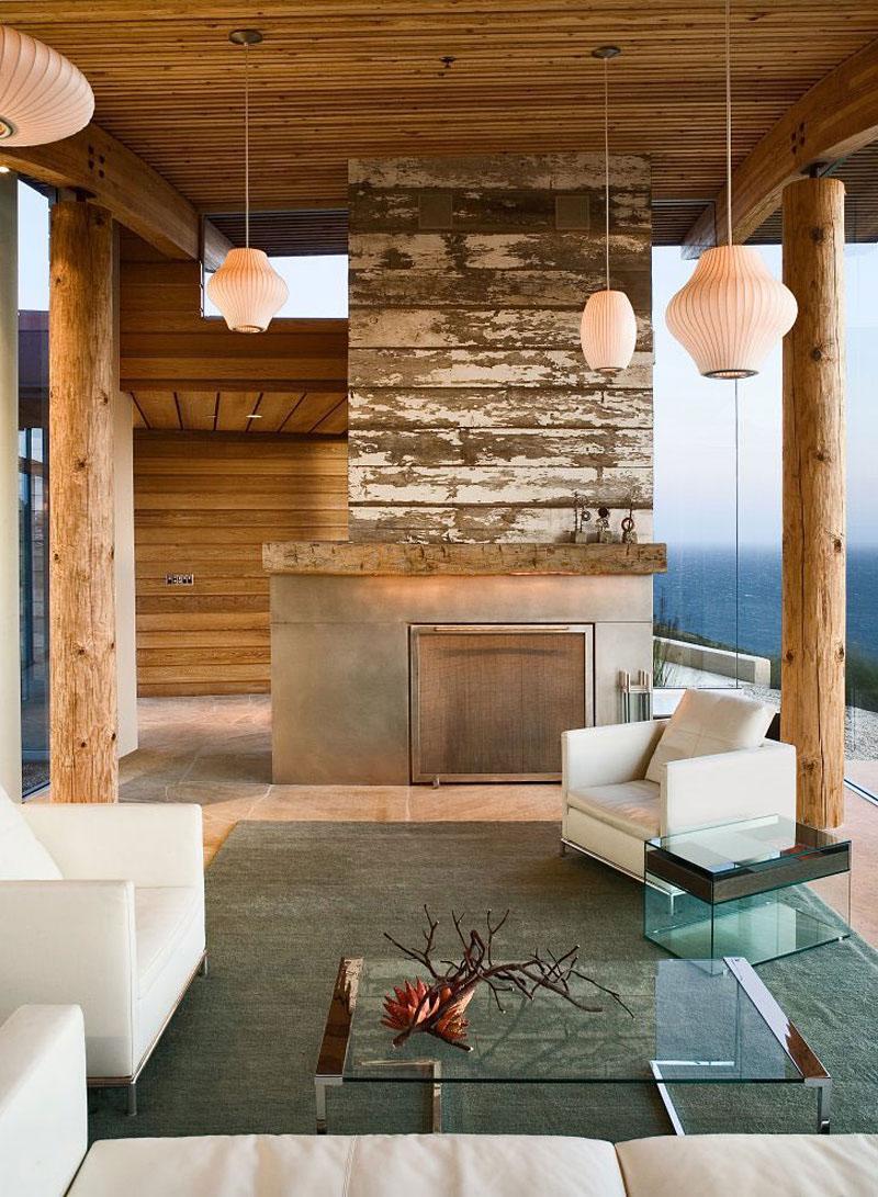 Rustic Modern House Overlooking The Ocean In Big Sur
