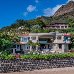 Outdoor Kitchen Houston Island Table Combo Oceanfront Home In Honolulu With Stunning Architectural ...