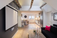 Elegant Small One Bedroom Modern Attic Apartment With ...