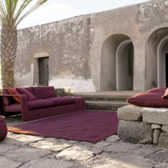 Elegant Living Rooms With Fireplaces Home Ideas For Room Modern Furniture A Touch Of Purple By Paola Lenti ...
