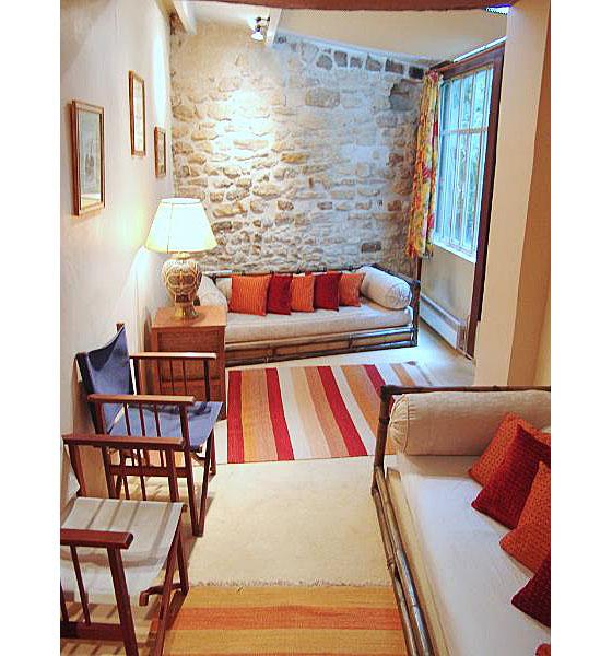 Paris Apartment Interior Design With Appealing Stone Walls