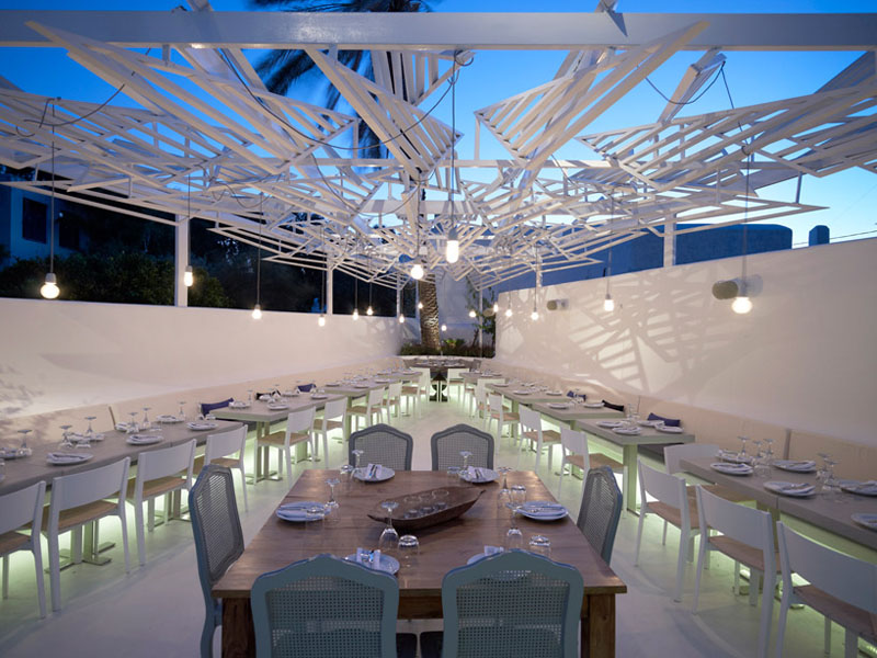 PHOS Restaurant  A Dazzling Eatery in Mykonos  iDesignArch  Interior Design Architecture