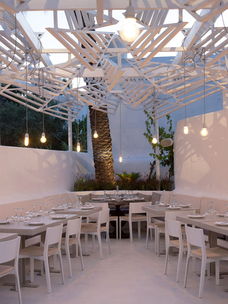 traditional kitchen cabinets pictures center island phos restaurant - a dazzling eatery in mykonos ...