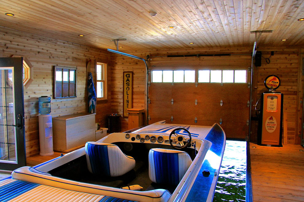 Muskoka Lakeside Cottage Boathouse  iDesignArch  Interior Design Architecture  Interior