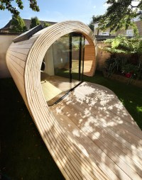 Prefab Garden Pavilion With Shed And Office Space ...
