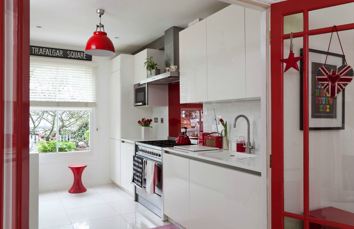 windsor kitchen chairs bedroom chair crushed velvet house in ravenscourt with red and white theme   idesignarch interior design, architecture ...