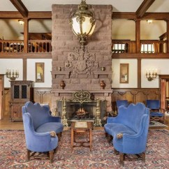 Garage Door Living Room Peacock English Tudor-style American Castle In The Rocky Mountains ...