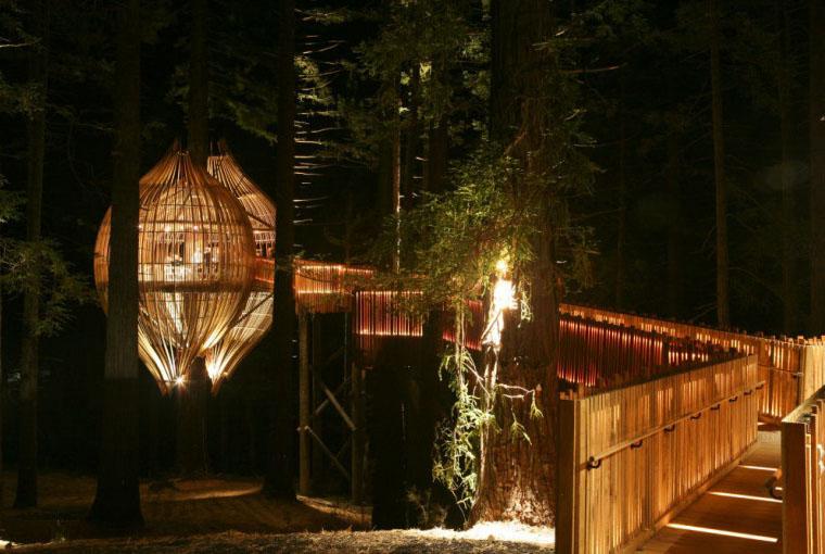 Redwoods Yellow Treehouse  iDesignArch  Interior Design Architecture  Interior Decorating