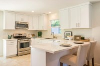 Newly Renovated Contemporary Small Kitchen With Clean Look ...