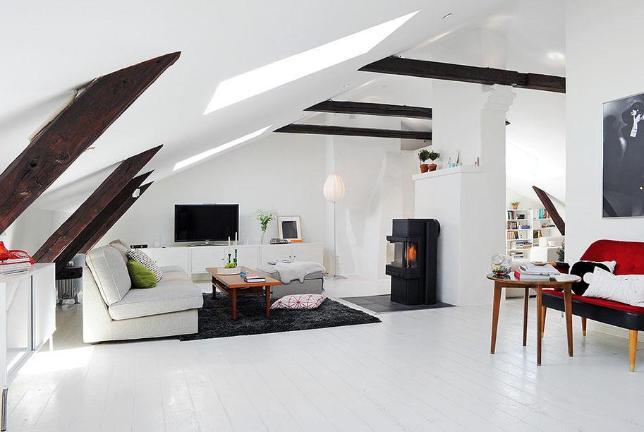 Renovated Attic Duplex Apartment Design  iDesignArch