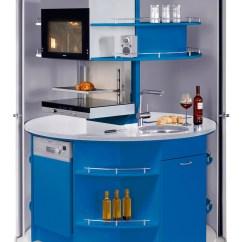 Compact Kitchens Kitchen Cart White Revolving Circle Idesignarch Interior Design