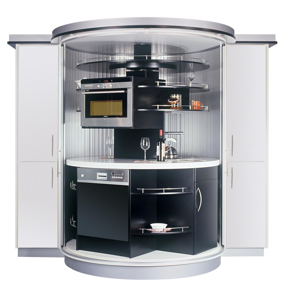 Revolving Circle Compact Kitchen  iDesignArch  Interior Design Architecture  Interior